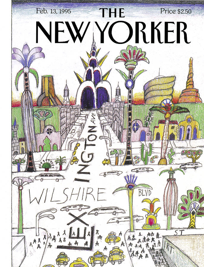 The New Yorker Cover - February 13th, 1995 Photograph by Saul Steinberg