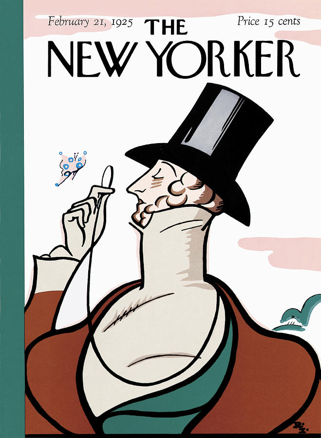 The New Yorker Cover - February 21st, 1925 Photograph by Rea Irvin