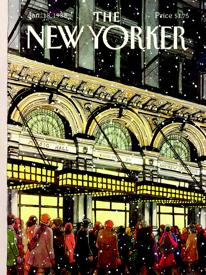 The New Yorker Cover - January 18th, 1988 Painting by Roxie Munro