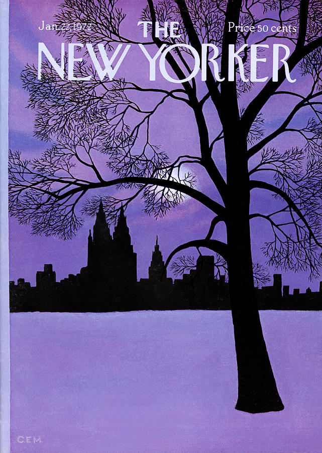 The New Yorker Cover - January 22nd, 1972 Photograph by Charles E Martin