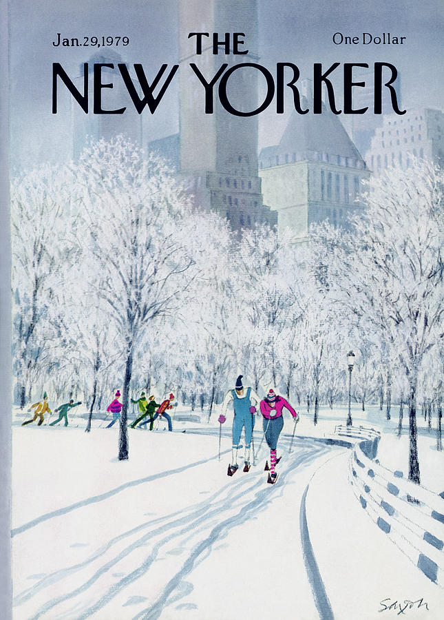 New Yorker January 29th, 1979 Painting by Charles Saxon