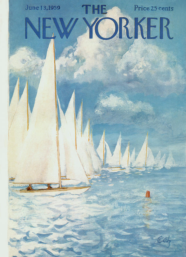 New Yorker Cover - June 13th, 1959 Painting by Arthur Getz