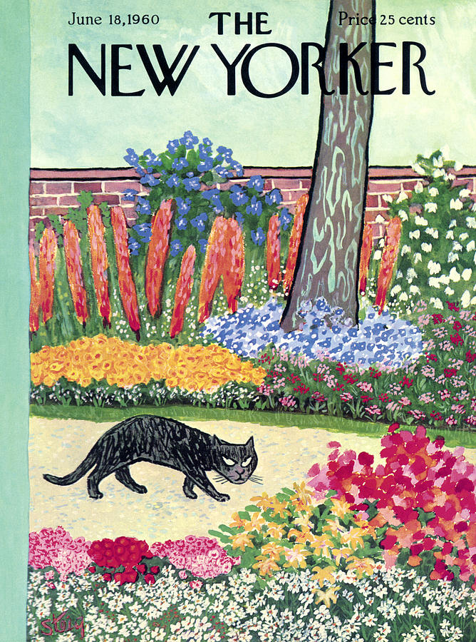 New Yorker Cover - June 18, 1960 Painting by William Steig