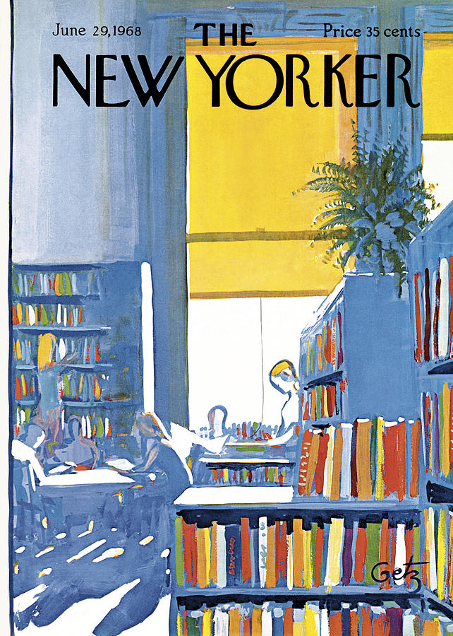 Books Painting - New Yorker June 29th 1968 by Arthur Getz