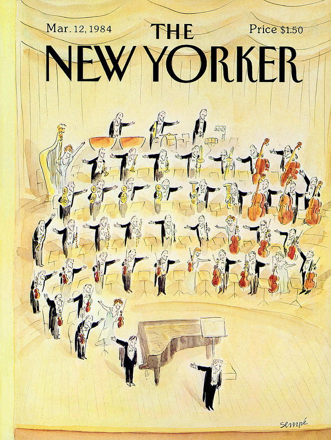 Triangle Photograph - The New Yorker Cover - March 12th, 1984 by Jean-Jacques Sempe