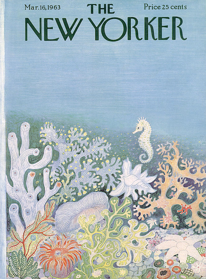 New Yorker Cover - March 16th, 1963 Painting by Ilonka Karasz
