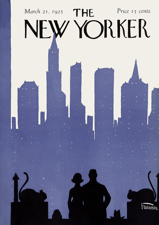 Skyline Painting - New Yorker March 21st, 1925 by Carl Fornaro