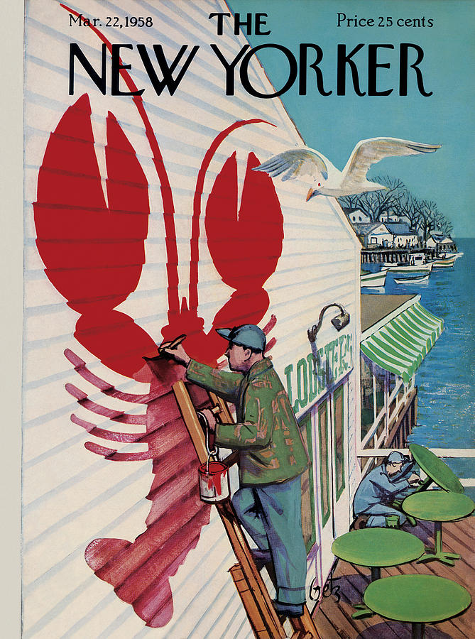 Food Painting - New Yorker March 22, 1958 by Arthur Getz