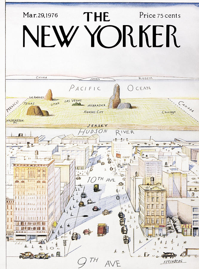 View From 9th Avenue Photograph by Saul Steinberg