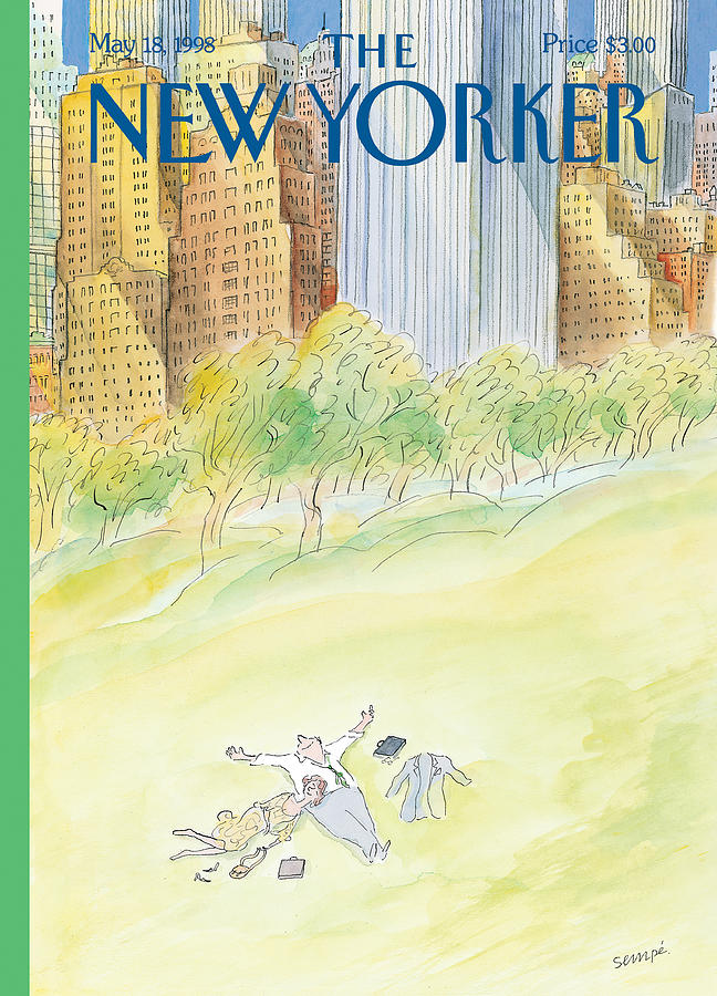 New Yorker May 18th, 1998 Painting by Jean-Jacques Sempe