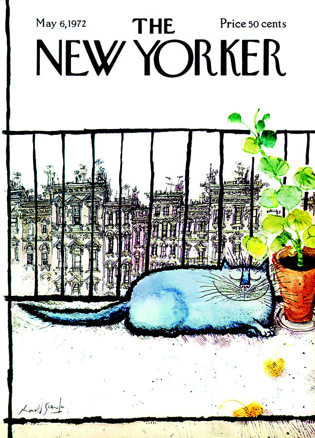 Animals Painting - The New Yorker Cover - May 6th, 1972 by Ronald Searle