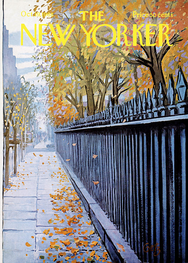 Season Painting - New Yorker October 19, 1968 by Arthur Getz
