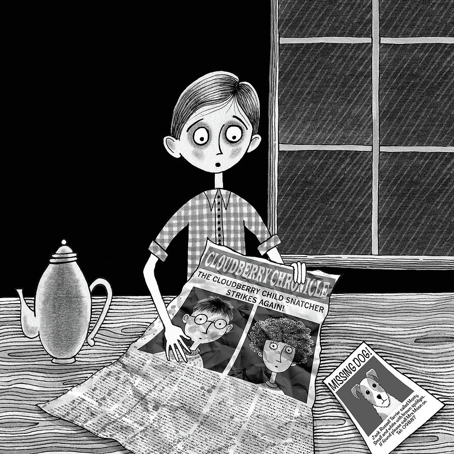 Boy Drawing - The News  by Andrew Hitchen