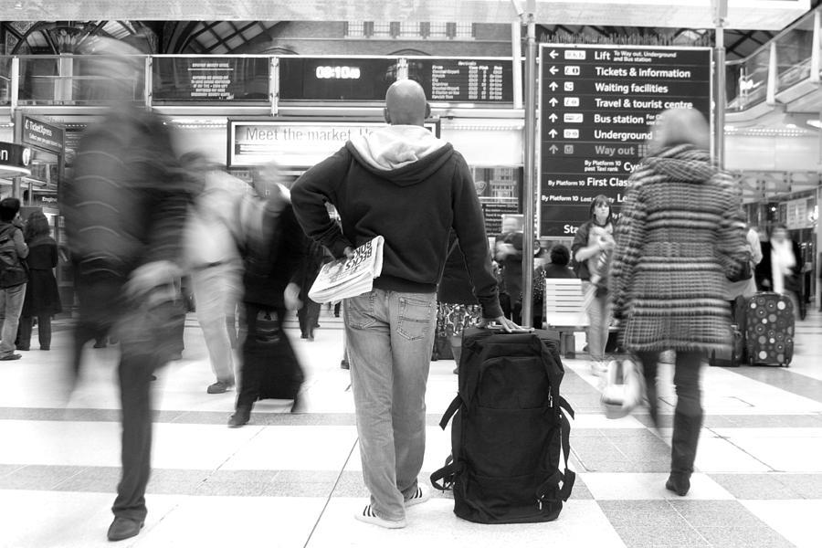 Photographer Photograph - The Next Train On Platform 4 by Jez C Self