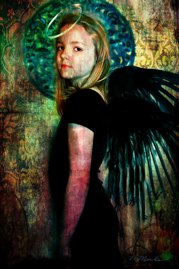 Angel Photograph - The Night Angel by Perennial Dreams Studios