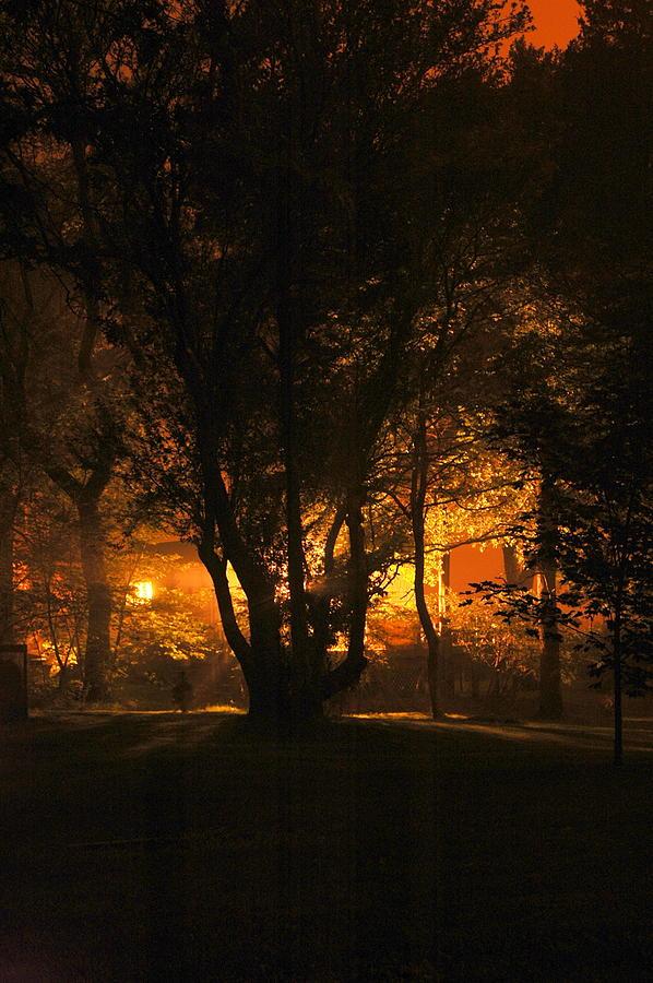 Long Exposure Photograph - The Night Glows by Megen McAuliffe