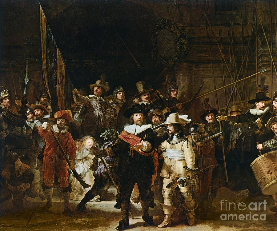 The Painting - The Nightwatch by Rembrandt