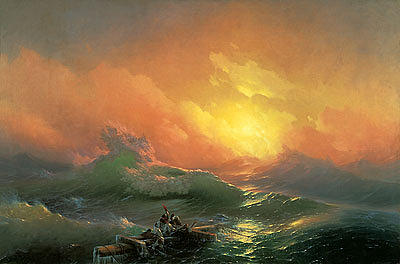Aivazovsky Painting - The Ninth Wave by Ivan Aivazovsky