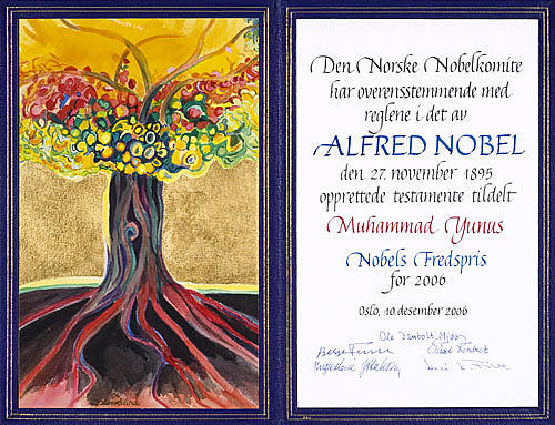 Landscape Painting - The Nobel Peace Price Diploma 2006 by Jarle Rosseland