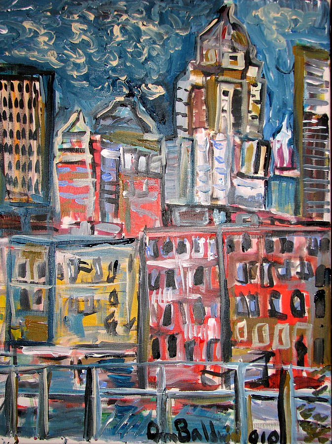 Cityscape Painting - The Noise Of Zyprexa  by Jon Baldwin  Art