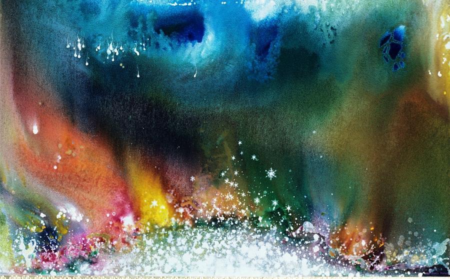 Spiritual Painting - The Northern Lights Of Andromeda by Lee Pantas
