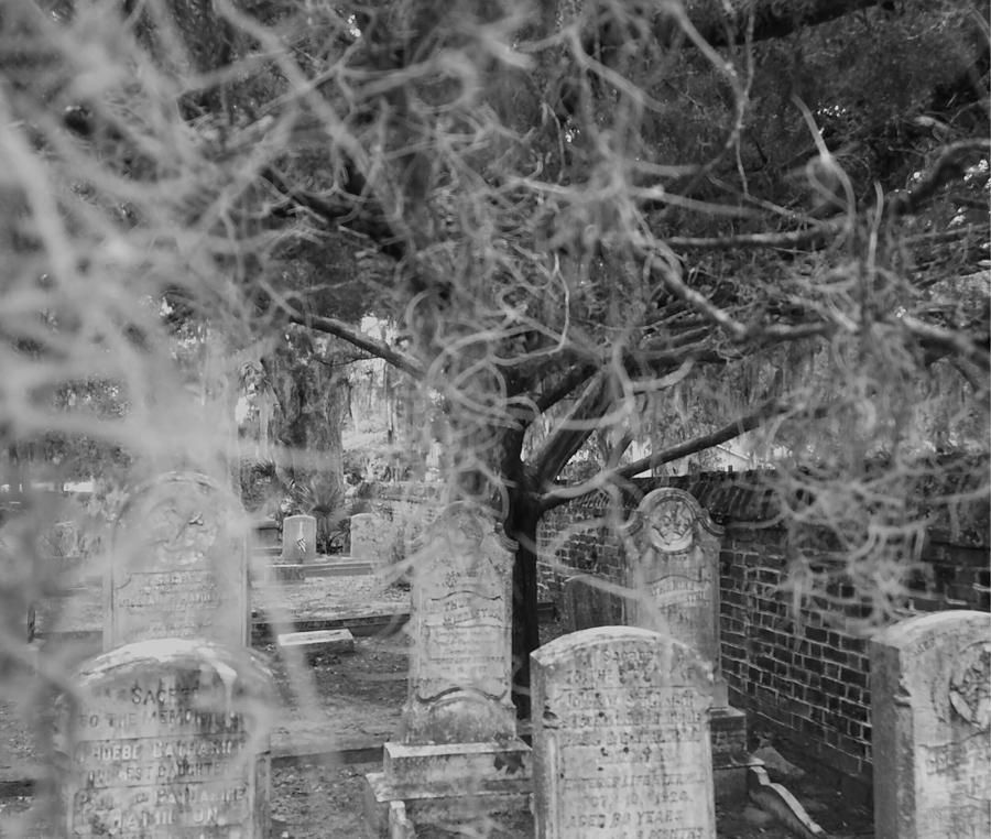 Cemetery Photograph - The Note Unsaid by Sanctuary of Words Gallery