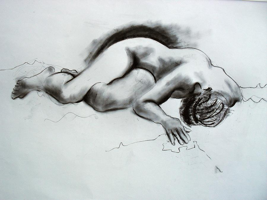 Nude Painting - The Nude Model by Richard Tuvey