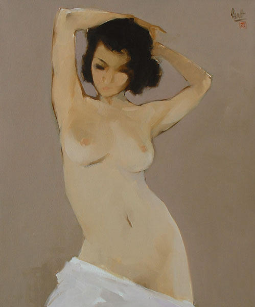 Nude Painting - The Nude by Nguyen Thanh Binh