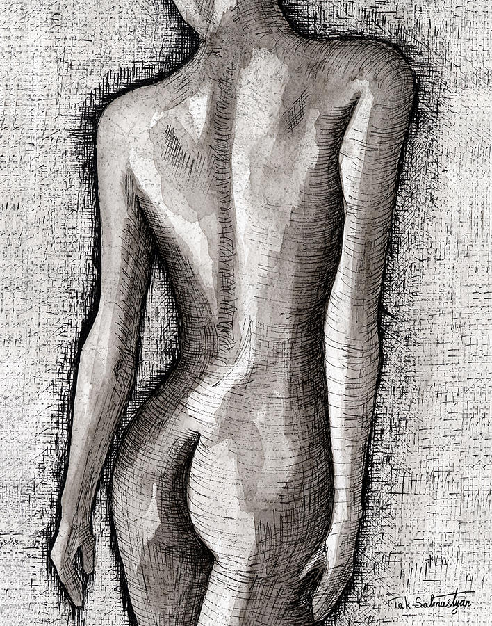 Landscape Painting - The Nude Number One by Tak Salmastyan