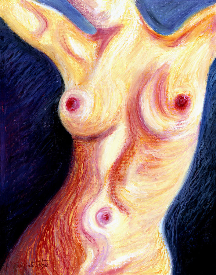 Landscape Painting - The Nude Number Three by Tak Salmastyan