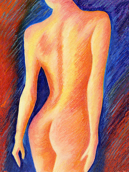 Landscape Painting - The Nude Number Two by Tak Salmastyan