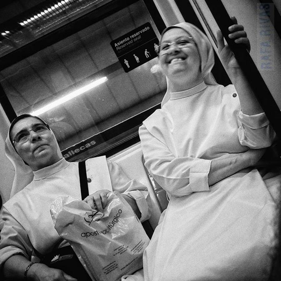 Women Photograph - The Nuns Fun  #nun #people by Rafa Rivas