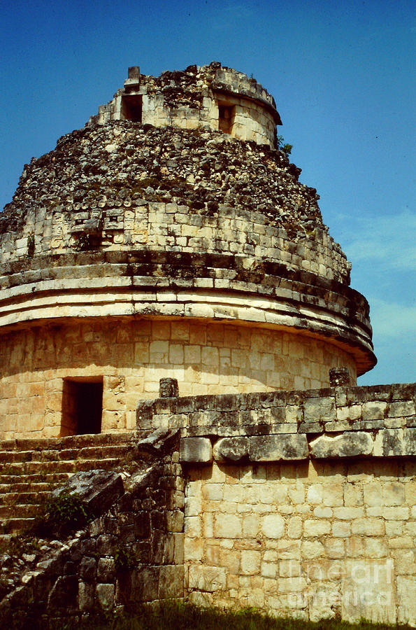 El Caracol Photograph - The Observatory El Caracol by Roy Anthony Kaelin