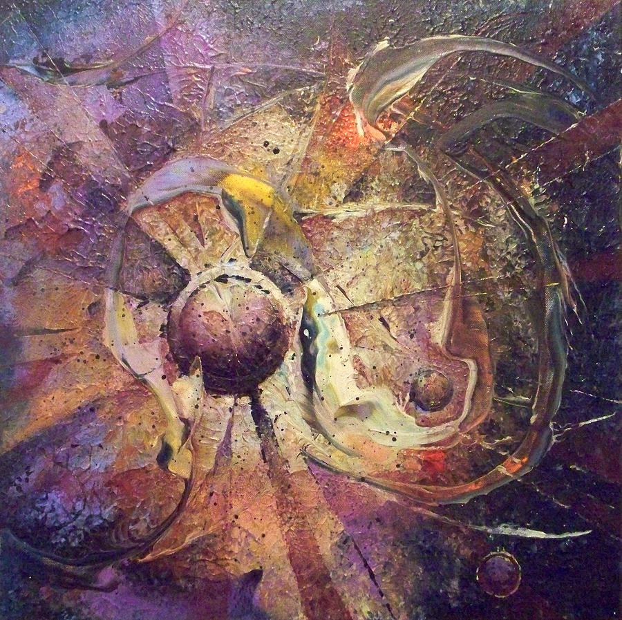 Abstract Paintings Painting - The Obstinate Particle by Fred Wellner
