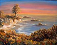 Ocean Sunset Painting - The Ocean by Patricia Halstead