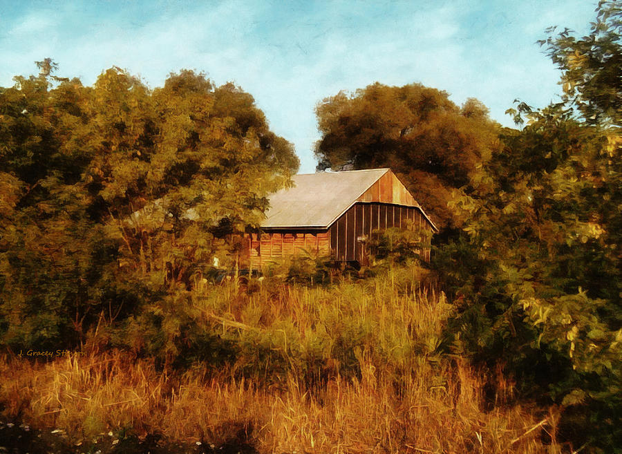 The Old Auto Shed by JGracey Stinson