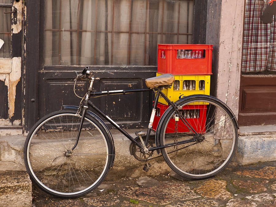 Skopje Photograph - The Old Bicycle by Rae Tucker