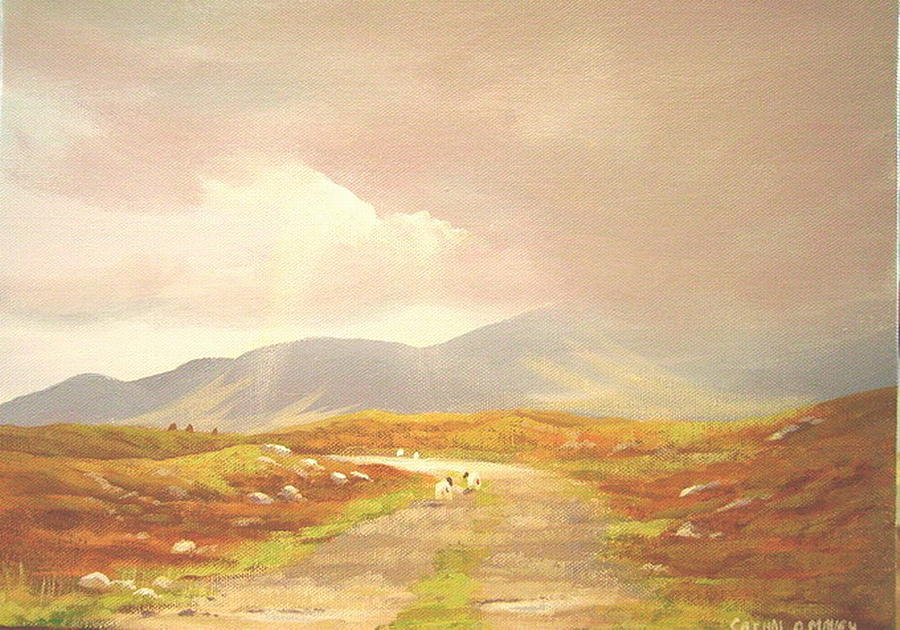 The Old Bog Road Painting by Cathal O malley