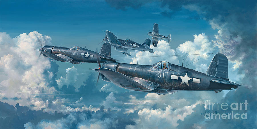 Wwii Painting - The Old Breed by Randy Green