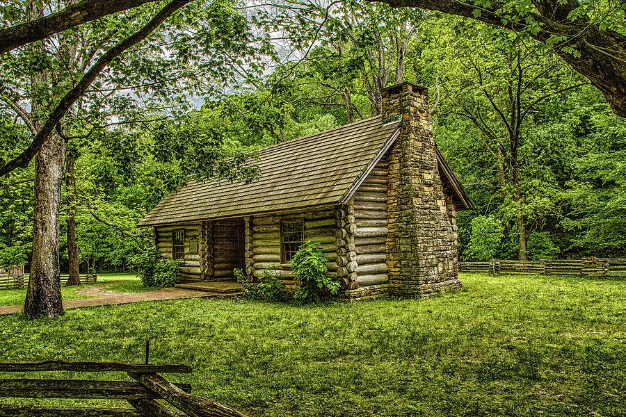 The Old Log Cabin Photograph By Robert Hebert