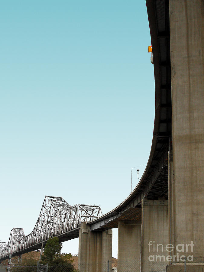 Transportation Photograph - The Old Carquinez Bridge . 7d8832 by Wingsdomain Art and Photography