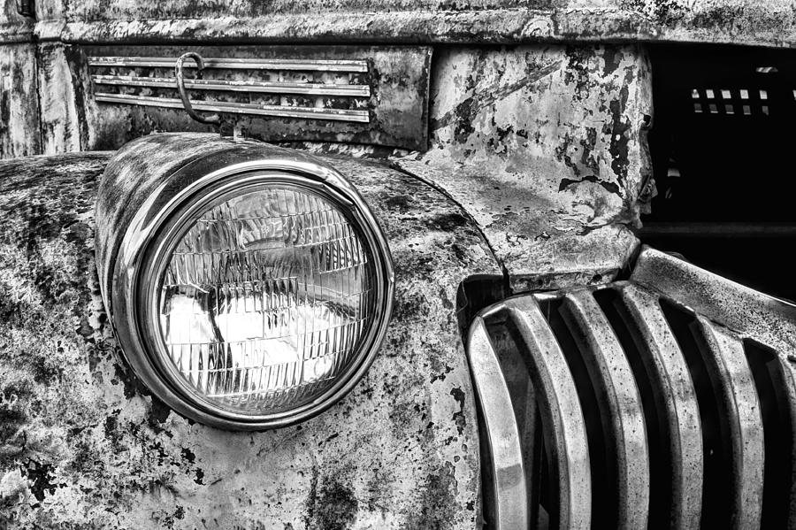 Chevrolet Photograph - The Old Chevy Truck Black And White by JC Findley