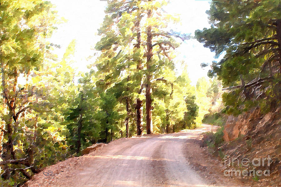 Impressionism Photograph - The Old Dirt Road by Beauty For God