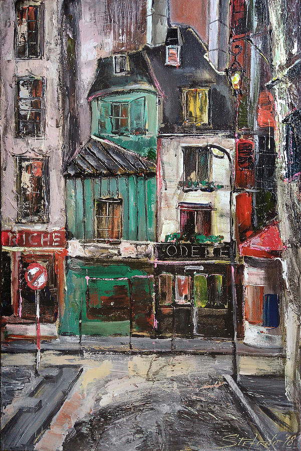 Paris Painting - The Old District II by Stefano Popovski