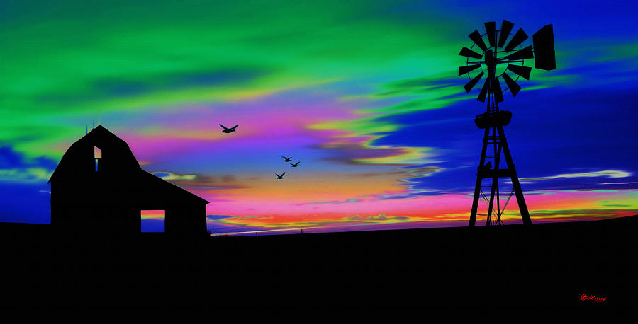 Farm Digital Art - The Old Farm by Gregory Murray
