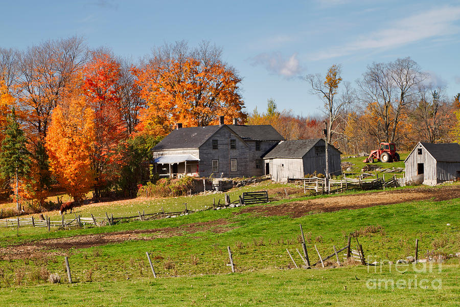 Farm Photograph - The Old Farm In Autumn by Louise Heusinkveld