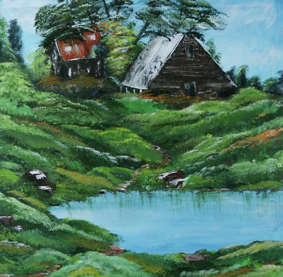 Farm Painting - The Old Farm by Robin Lee