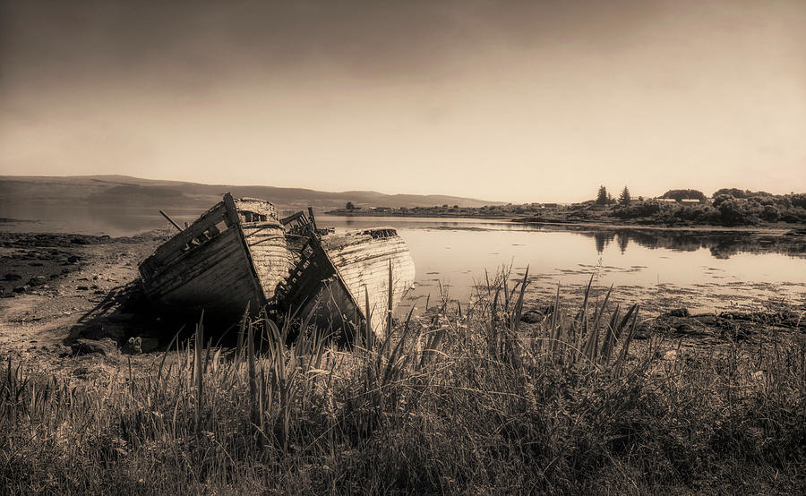 Fishing Boats Photograph - The Old Fishing Boats by Roy McPeak