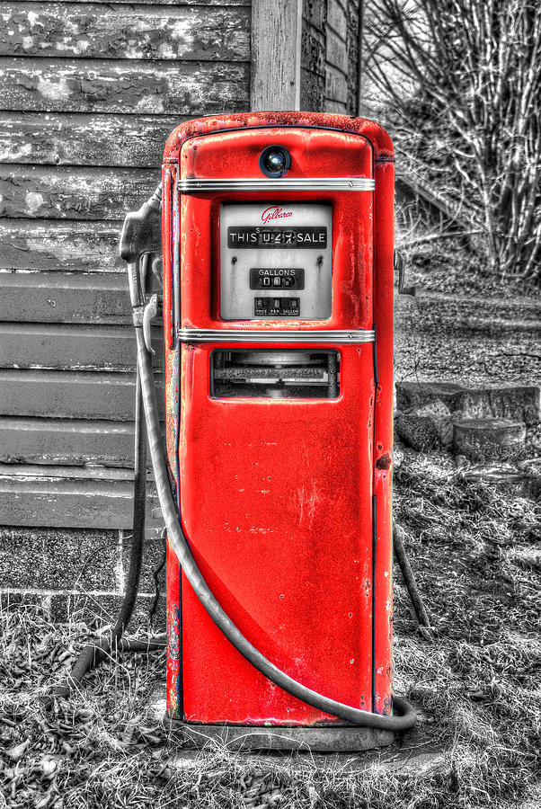 The Old Gas Pump 2 Selective Color