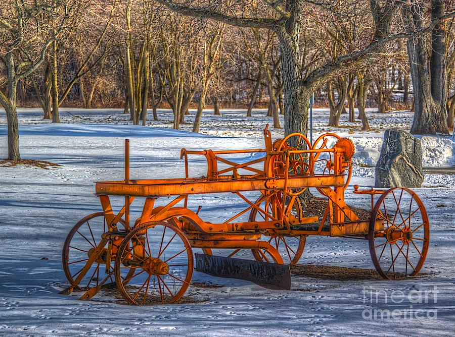 Old Photograph - The Old Grader by Robert Pearson